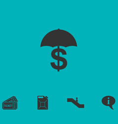 Preservation and protection money icon flat vector