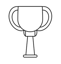 trophy ball winner award outline vector image vector image