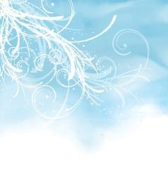 decorative watercolor background 0905 vector image vector image