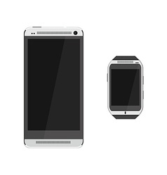 Smartphone and smartwatch vector image