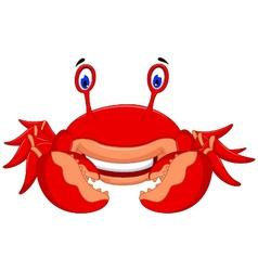 cute crab cartoon look at camera vector image