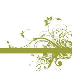 floral background frame design vector image vector image