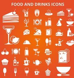 Foodicons vector image vector image