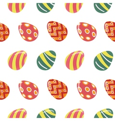 Happy Easter Seamless Pattern with Colorful Eggs vector image vector image