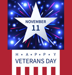 11 november veterans day firework banner vector image