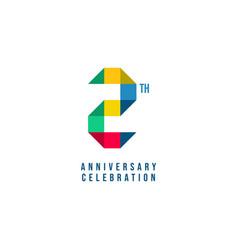 2 th anniversary celebration template design vector