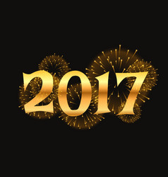 2017 new year celebration background with golden vector image