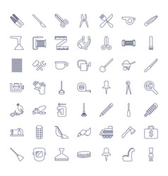 49 tool icons vector