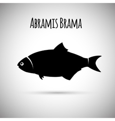 Abramis brama bream fish logo icon vector