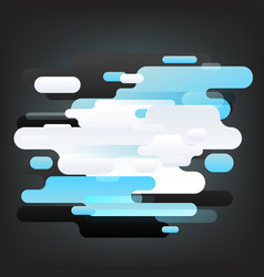 abstract composition of different color clouds vector image