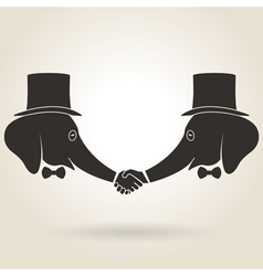 Abstract Handshake vector image