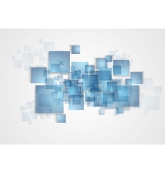 Abstract tech squares design vector image