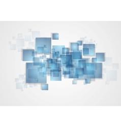 Abstract tech squares design vector