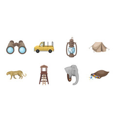 African safari icons in set collection for design vector