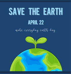 an earth day logo vector image