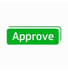 Approve icon in simple style vector