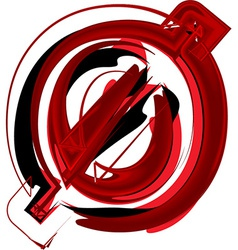 Artistic font number 0 vector image