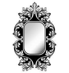baroque mirror frame imperial decor design vector image