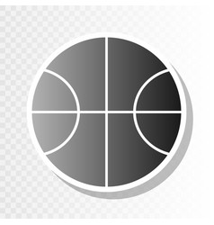 basketball ball sign new vector image