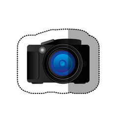 Black technology professional camera icon vector