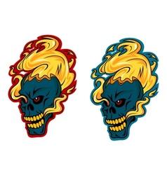 Blazing skulls characters vector image