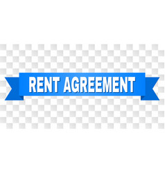 blue stripe with rent agreement caption vector image