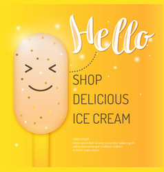 bright of ice cream vector image