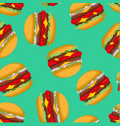 burger pattern hamburgers background fast food vector image