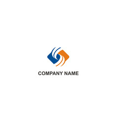 circle square business finance company logo vector image