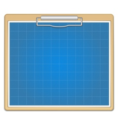 Clipboard with blueprint vector