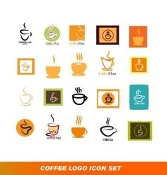 Coffee shop logo icon set vector