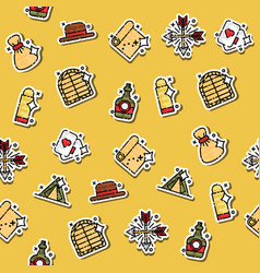 colored wild west concept icons pattern vector image