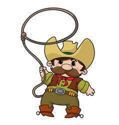 cowboy with lasso vector image