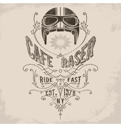 Custom motorcycle Vintage Design vector