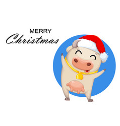 cute cow cartoon character chinese new year vector image