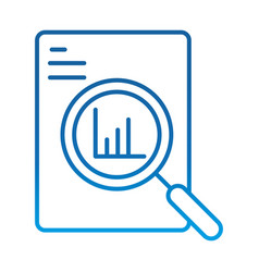 Data analysis document information chart economy vector