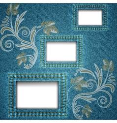denim window vector image