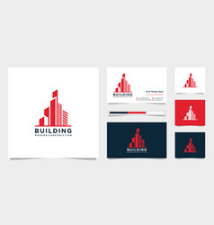 Design logos and building construction business vector