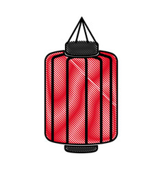 drawing japanese lantern decoration festive vector image