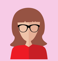 Educated smart women portrait vector