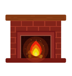 Fireplace with a shelf and firewood vector