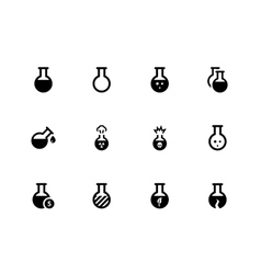 Flask icons on white background vector image