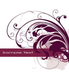 floral edge frame design vector image