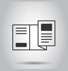 Flyer leaflet icon in flat style brochure sheet vector