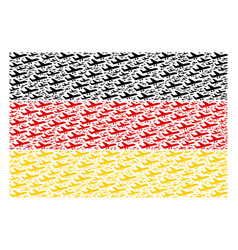 Germany flag pattern of aiplane icons vector