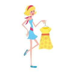 Girl with fashion dress vector image