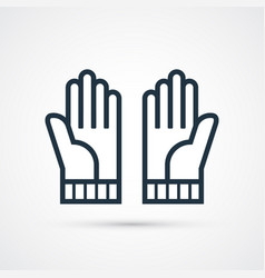 gloves trendy symbol trendy colored vector image