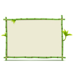 Green Bamboo Frame vector