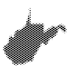 halftone schematic west virginia state map vector image