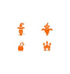 Halloween set graphic template vector